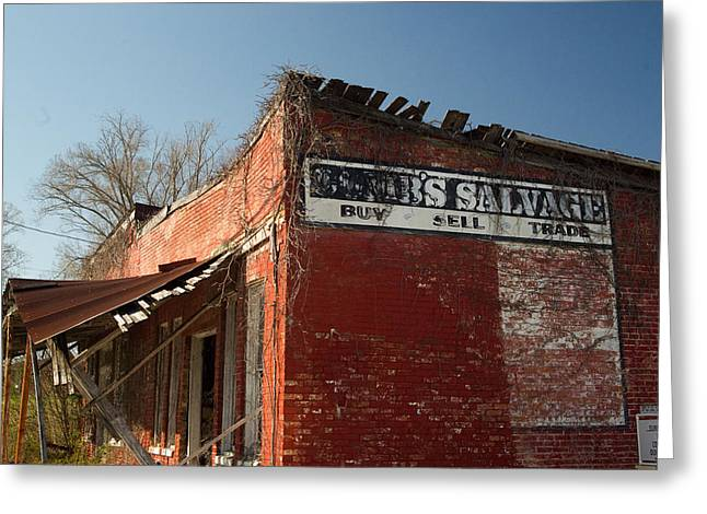 Salvage Greeting Cards - Abandoned Salvage Business 1 Greeting Card by Douglas Barnett