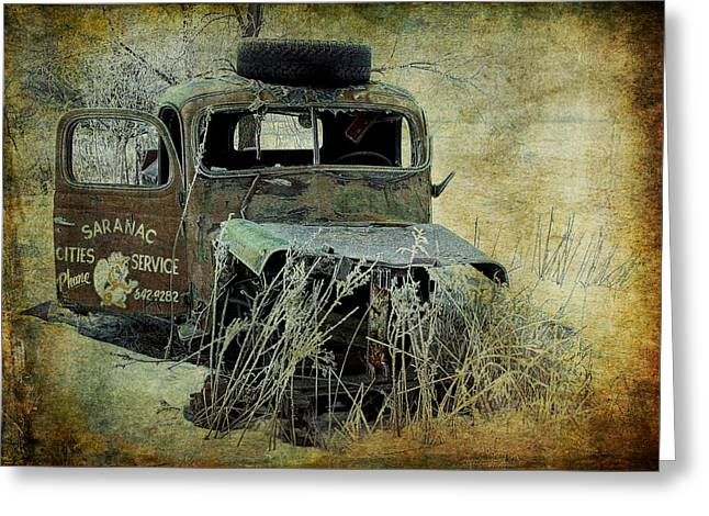 Abandoned Saranac Cities Service Truck Greeting Card by Randall Nyhof