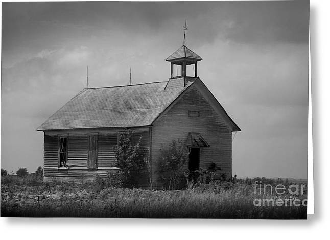 Abandoned School House. Greeting Cards - Abandoned Schoolhouse Greeting Card by E B Schmidt