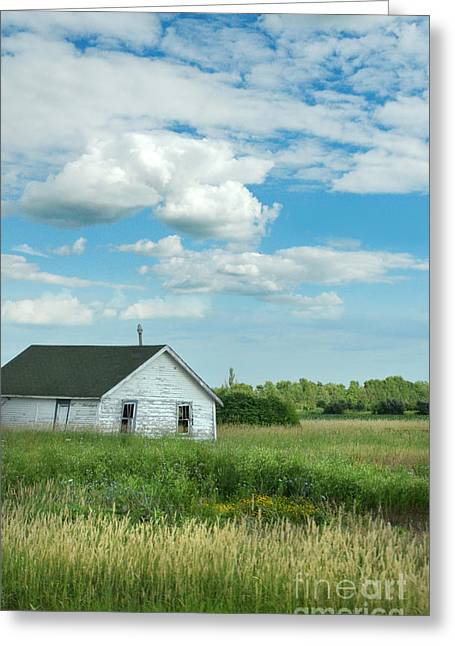 Outbuildings Greeting Cards - Abandoned Shack in the Country Greeting Card by Jill Battaglia