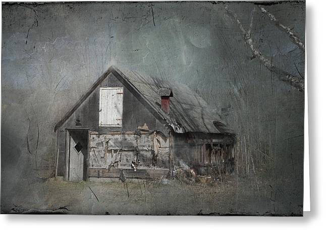 Abandoned Shack On Sugar Island Michigan Greeting Card by Evie Carrier