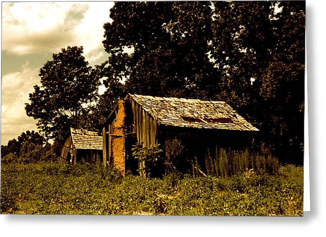 Old House Photographs Greeting Cards - Abandoned Shacks Beaufort South Carolina  Greeting Card by Marion Wolcott