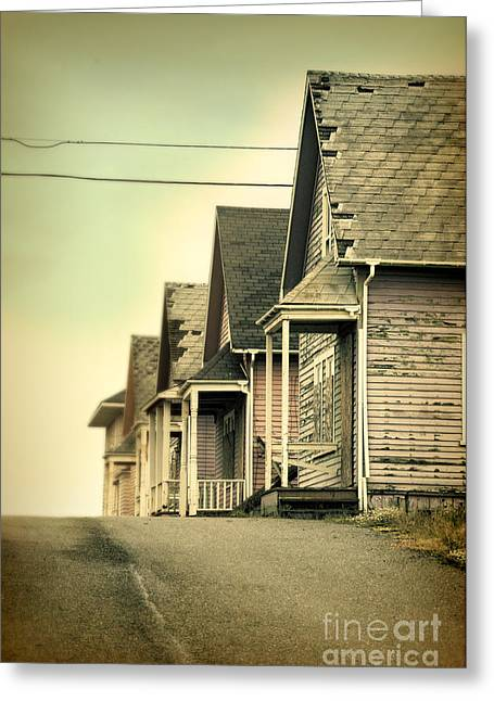 Abandoned Shacks Greeting Card by Jill Battaglia