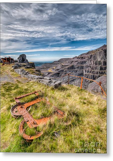 National Digital Greeting Cards - Abandoned Slate Quarry Greeting Card by Adrian Evans