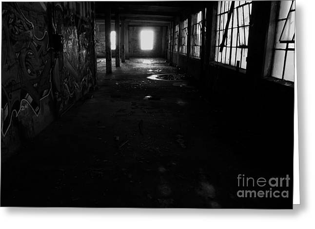 Abandoned Space I - Bw Greeting Card by James Aiken