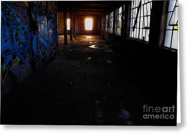 Abandoned Space I Greeting Card by James Aiken