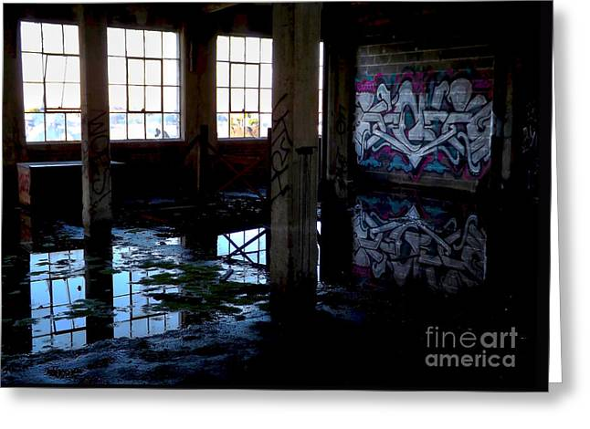 Abandoned Space II Greeting Card by James Aiken