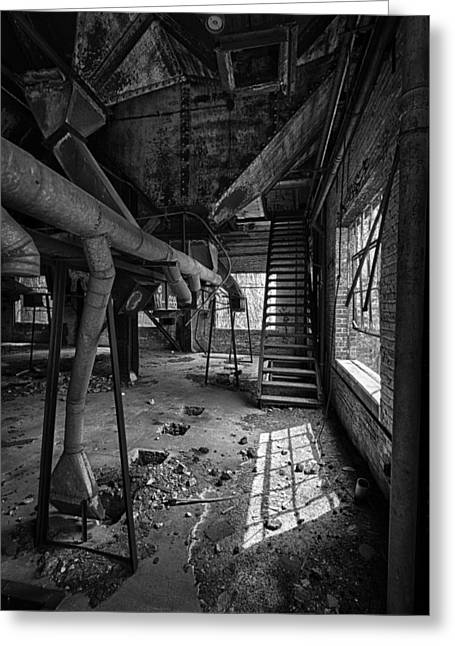 Run Down Greeting Cards - Abandoned Stairs Greeting Card by Mike Burgquist