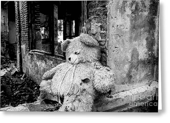 Abandonment Greeting Cards - Abandoned Teddy Bear II Greeting Card by Dean Harte