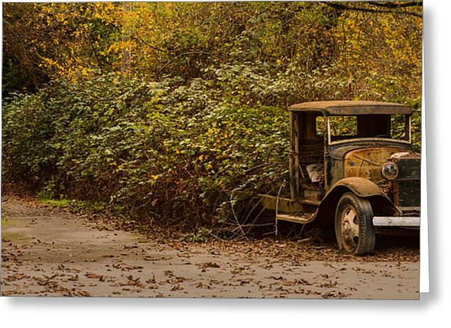 Rusted Cars Greeting Cards - Abandoned Truck Greeting Card by Bryant Coffey
