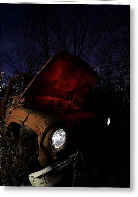 Junk Greeting Cards - Abandoned Truck Greeting Card by Cale Best