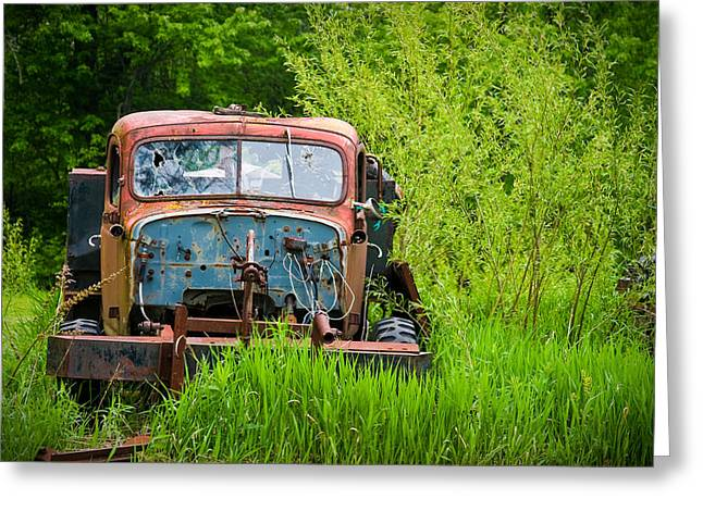 Rusted Cars Greeting Cards - Abandoned Truck in Rural Michigan Greeting Card by Adam Romanowicz