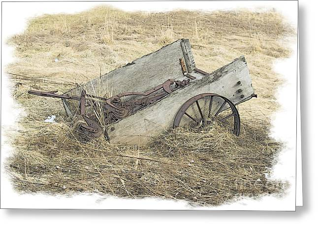 Dantzler Greeting Cards - Abandoned Wagon Greeting Card by Andrew Govan Dantzler