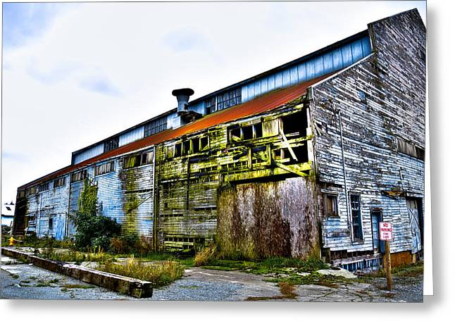 Sloughs Greeting Cards - Abandoned Warehouse on the Swinomish Channel - La Conner Washington Greeting Card by David Patterson