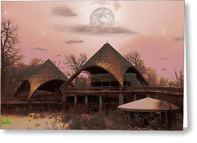 Take Over Greeting Cards - Abandoned Zoo Greeting Card by Michael Rucker
