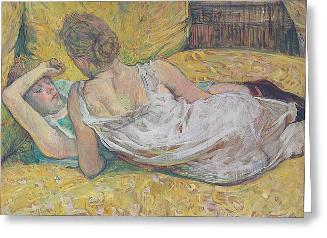 Consoling Paintings Greeting Cards - Abandonment Greeting Card by Henri de Toulouse-Lautrec