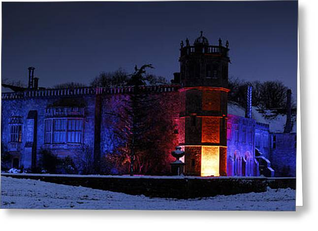 Light And Dark Greeting Cards - Abbey at night Greeting Card by John Chivers