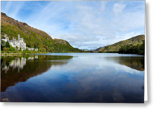County Galway Greeting Cards - Abbey On The Banks Of Fannon Pool Greeting Card by Panoramic Images