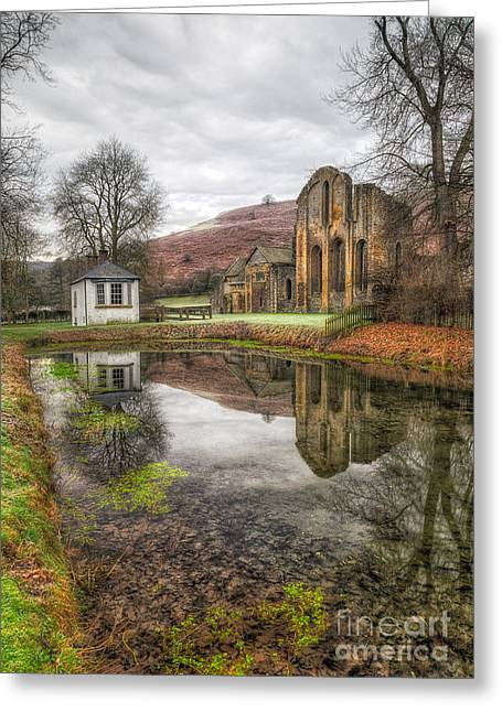 Religious Digital Art Greeting Cards - Abbey Reflection Greeting Card by Adrian Evans