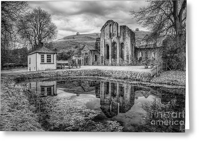 Adam Greeting Cards - Abbey Reflections Greeting Card by Adrian Evans