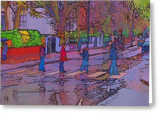 Abbey Road Greeting Cards - Abbey Road Crossing Greeting Card by Chris Thaxter