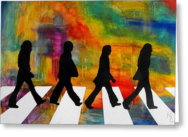 Hey Jude Greeting Cards - Abbey Road Greeting Card by Ivan Guaderrama