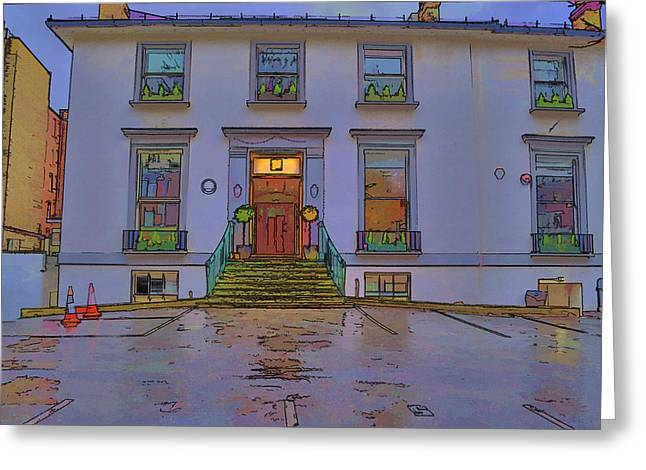 Abbey Road Greeting Cards - Abbey Road Recording Studios Greeting Card by Chris Thaxter