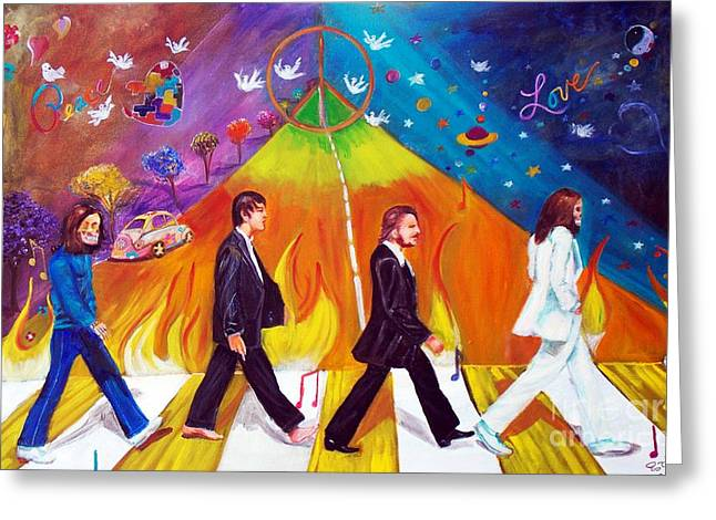 Abbey Road Greeting Card by To-Tam Gerwe
