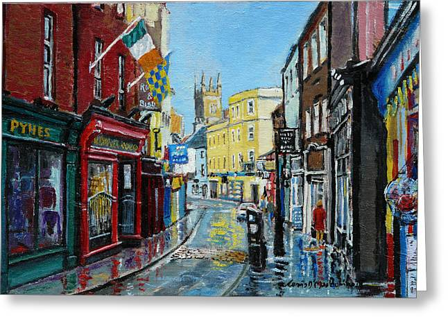 Sean Paintings Greeting Cards - Abbey Street Ennis Co Clare Ireland Greeting Card by Tomas OMaoldomhnaigh