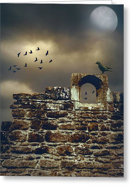 Rook Greeting Cards - Abbey Wall Greeting Card by Amanda And Christopher Elwell