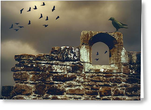 Abbey Wall Greeting Card by Amanda And Christopher Elwell