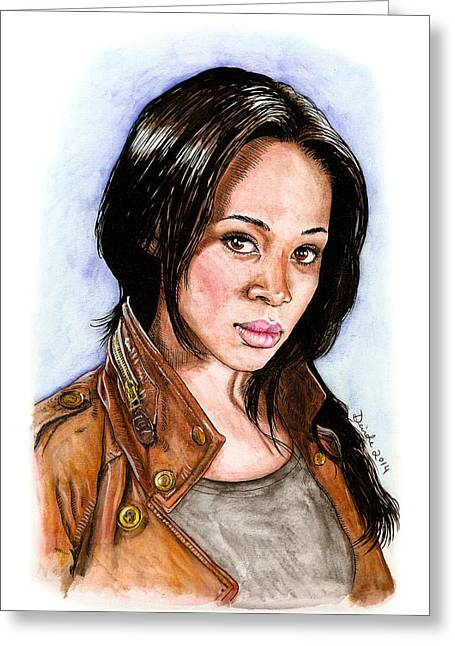 Ichabod Greeting Cards - Abbie Mills Greeting Card by Deirdre DeLay