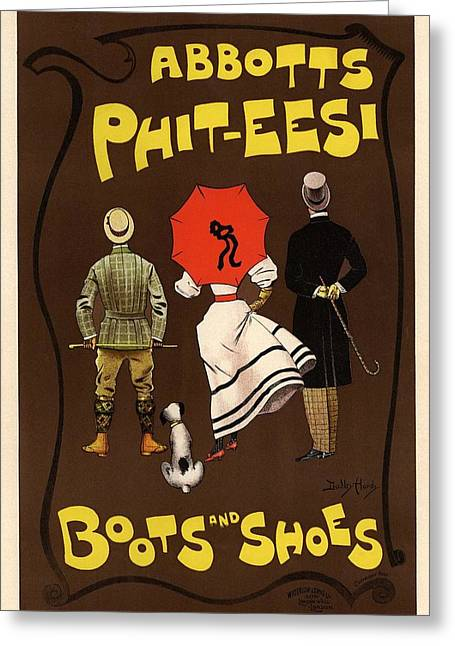 Boots Greeting Cards - Abbots Phit-Eesi Boots and Shoes Greeting Card by Gianfranco Weiss