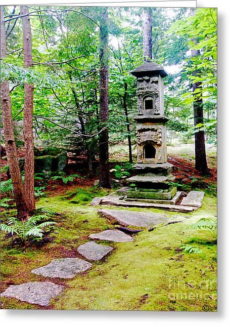 Garden Statuary Greeting Cards - Abby Aldrich Rockefeller Garden Path and Statuary Greeting Card by Lizi Beard-Ward