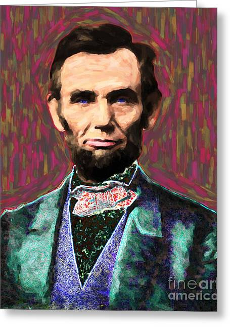 Proclamation Greeting Cards - Abe 20130115 Greeting Card by Wingsdomain Art and Photography