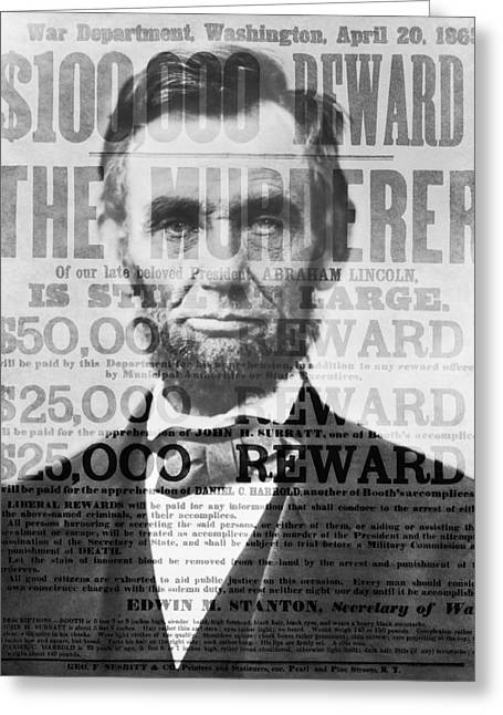 Confederate Flag Greeting Cards - Abe Lincoln Assassination Outrage Greeting Card by Daniel Hagerman