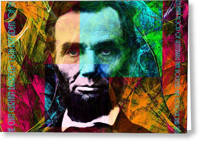 Recently Sold -  - Civil Greeting Cards - Abe The Broham Lincoln 20140217 Greeting Card by Wingsdomain Art and Photography