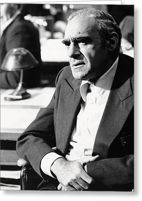 The Godfather Greeting Cards - Abe Vigoda in The Godfather  Greeting Card by Silver Screen