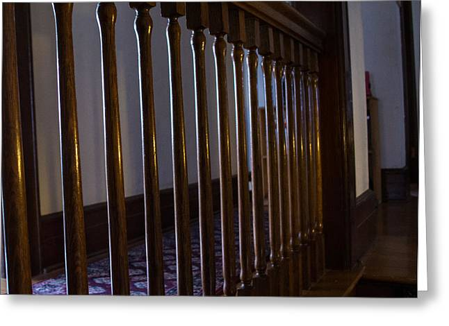 Wooden Stairs Greeting Cards - Abel House Rails Greeting Card by Roger Reeves  and Terrie Heslop