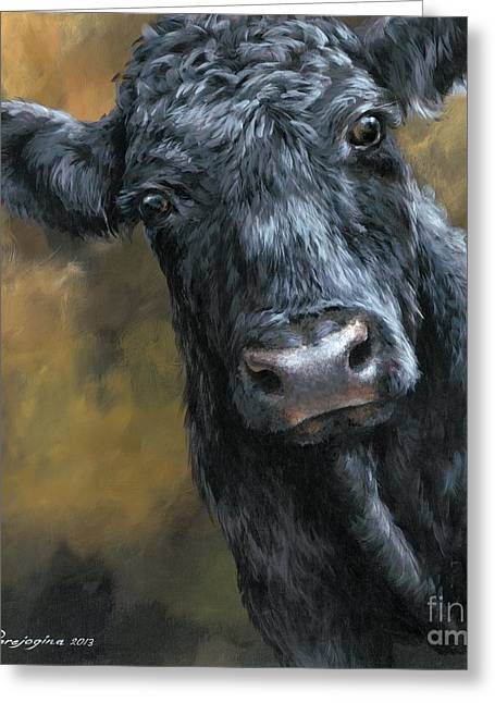 Recently Sold -  - Lions Greeting Cards - Aberdeen Angus Calf Greeting Card by Dina Earl