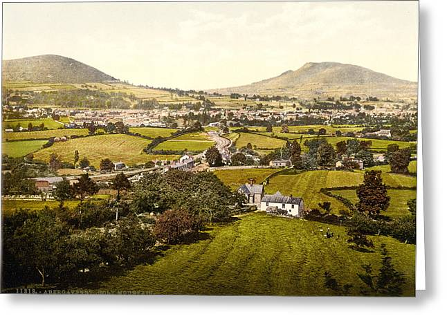 Brecon Beacons Greeting Cards - Abergavenny and Holy Mountain Greeting Card by Nomad Art And  Design