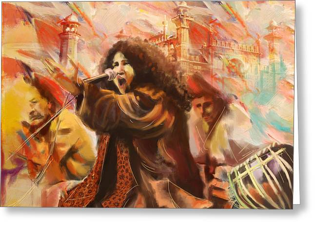 Sufi Dancer Greeting Cards - Abida Parveen Greeting Card by Catf