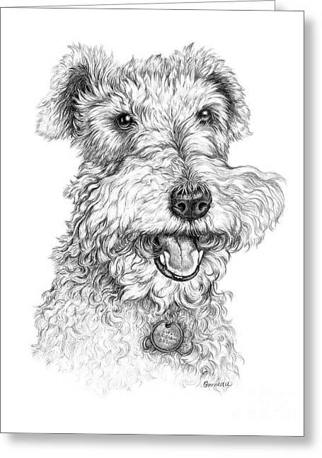 Pet Drawing Drawings Greeting Cards - Abigail Greeting Card by Catherine Garneau