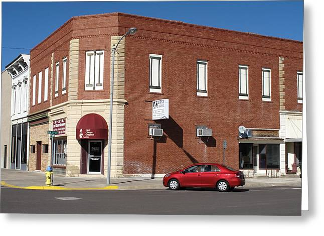 Best Sellers -  - Historic Country Store Greeting Cards - Abilene Kansas - 2nd and Broadway Greeting Card by Frank Romeo