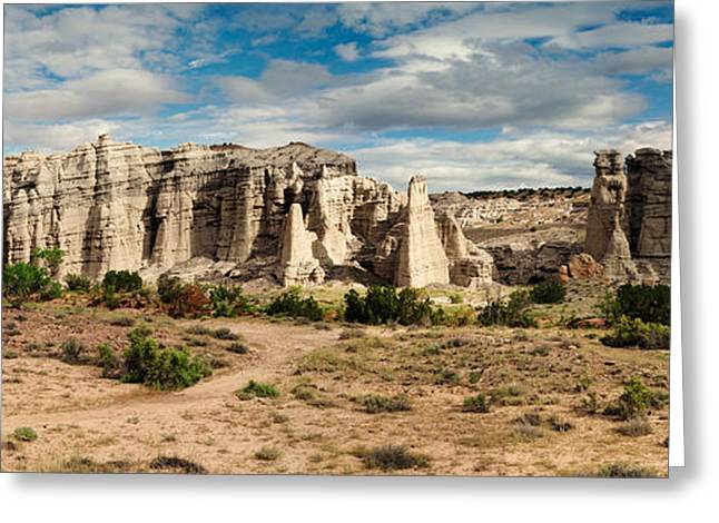 Northern New Mexico Greeting Cards - Abiquiu New Mexico Plaza Blanca in Technicolor Greeting Card by Silvio Ligutti