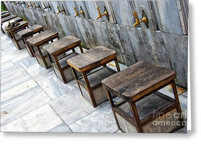 Faucet Greeting Cards - Ablution Taps 02 Greeting Card by Antony McAulay