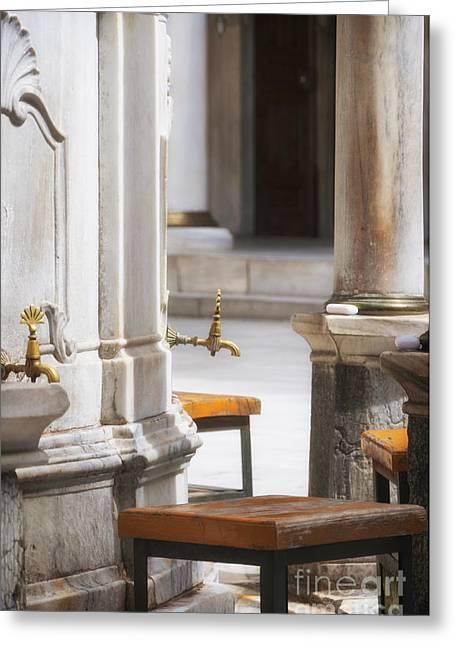 Tap Greeting Cards - Ablution Taps 04 Greeting Card by Antony McAulay