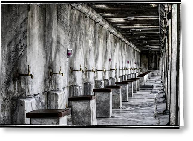 Religion Greeting Cards - Ablutions Greeting Card by Joan Carroll