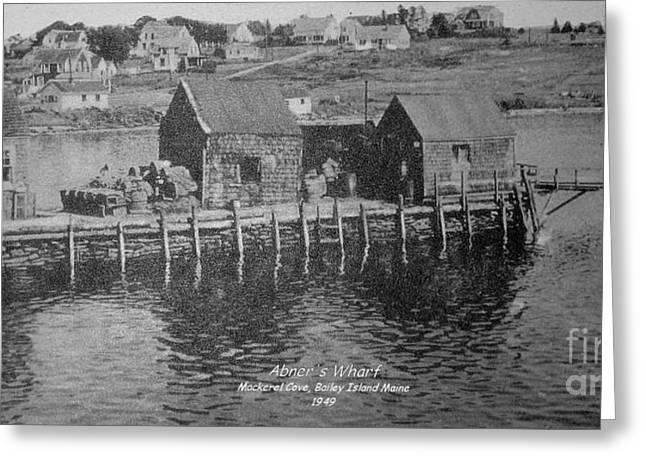 Abner Greeting Cards - Abners Wharf Greeting Card by Donnie Freeman