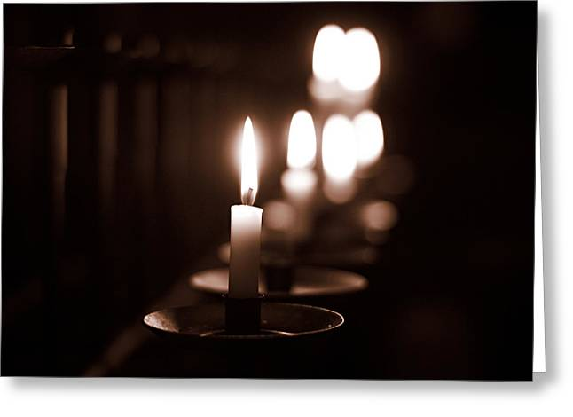 Candel Greeting Cards - Aboe Vetus Chapel Candels Greeting Card by Jouko Lehto